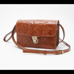 Patricia Nash Leather Crossbody Or Wristlet purse